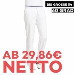 Damenhose 1070 von LEIBER / Farbe: weiß / 50 % Baumwolle 50 % Polyester - | MEIN-KASACK.de | kasack | kasacks | kassak |