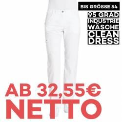 Damenhose 1140 von LEIBER / Farbe: weiß / 50 % Baumwolle 50 % Polyester - | MEIN-KASACK.de | kasack | kasacks | kassak |