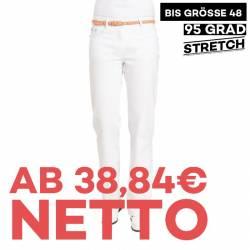 Damenhose 1190 von LEIBER / Farbe: weiß / 97 % Baumwolle 3 % Elastolefin - | MEIN-KASACK.de | kasack | kasacks | kassak