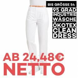 Damenhose 270 von LEIBER / Farbe: weiß / 50 % Baumwolle 50 % Polyester - | MEIN-KASACK.de | kasack | kasacks | kassak |