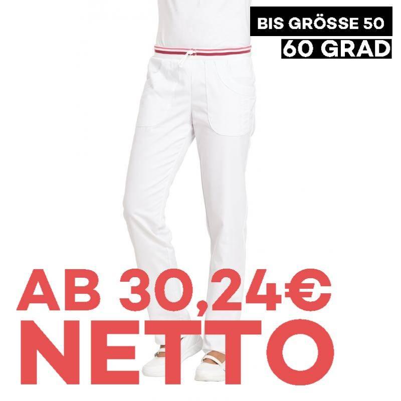 Damenhose 6750 von LEIBER / Farbe: weiß-beere / 65 % Polyester 35 % Baumwolle - | MEIN-KASACK.de | kasack | kasacks | ka