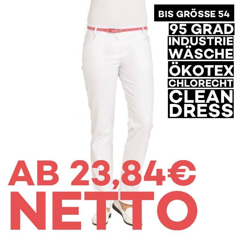 Damenhose - STRETCH - 7230 von LEIBER / Farbe: weiß / 63 % Polyester 34 % Baumwolle 3 % Elastolefin - | MEIN-KASACK.de |