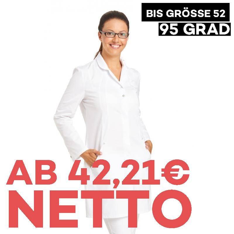 Damenmantel / Arztkittel / Laborkittel -  2559 von LEIBER / Farbe: weiß / 50 % Baumwolle 50 % Polyester - | MEIN-KASACK.
