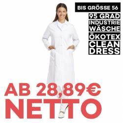 Damenmantel / Arztkittel / Laborkittel -  491 von LEIBER / Farbe: weiß / 65 % Polyester 35 % Baumwolle - | MEIN-KASACK.d
