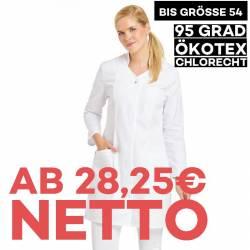 Damenmantel / Arztkittel / Laborkittel - 2513 von LEIBER / Farbe: weiß / 65 % Polyester 35 % Baumwolle - | MEIN-KASACK.d