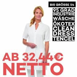 Damenmantel / Arztkittel / Laborkittel - 2744 von LEIBER / Farbe: weiß / 50% Lyocell 50% Polyester - | MEIN-KASACK.de |