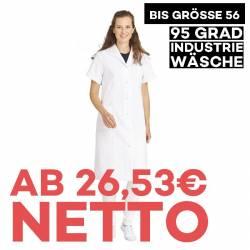 Damenmantel / Arztkittel / Laborkittel - 490 von LEIBER / Farbe: weiß / 65 % Polyester 35 % Baumwolle - | MEIN-KASACK.de