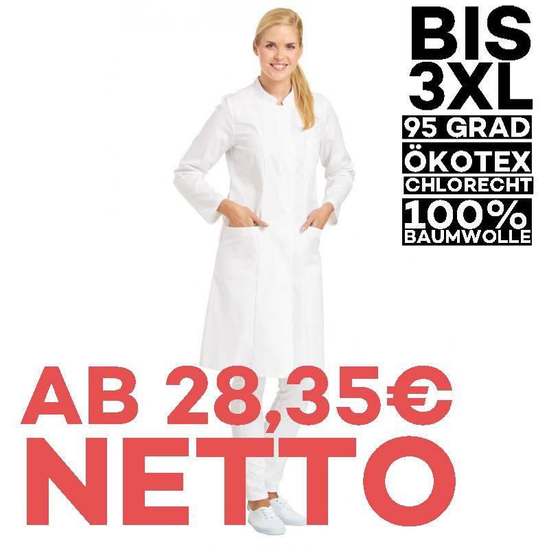 Damenmantel / Arztkittel / Laborkittel - 5790 von LEIBER / Farbe: weiß / 100 % Baumwolle - | MEIN-KASACK.de | kasack | k