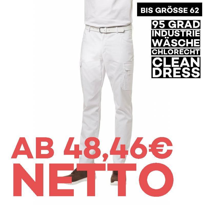 Herren Cargo-Hose 7850 von LEIBER / Farbe: weiß / 48% Baumwolle 48% Polyester 4% Elastolefin - | MEIN-KASACK.de | kasack