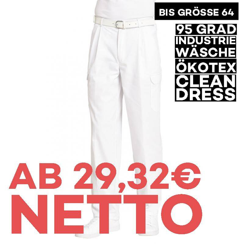 Herren-Cargohose 1390 von LEIBER / Farbe: weiß / 65 % Polyester 35 % Baumwolle -   MEIN-KASACK.de   kasack   kasacks   k