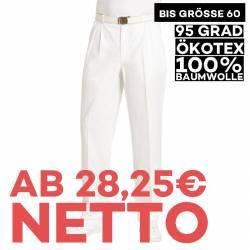 Herrenhose 1410 von LEIBER / Farbe: weiß / 100 % Baumwolle Feinköper - | MEIN-KASACK.de | kasack | kasacks | kassak | be