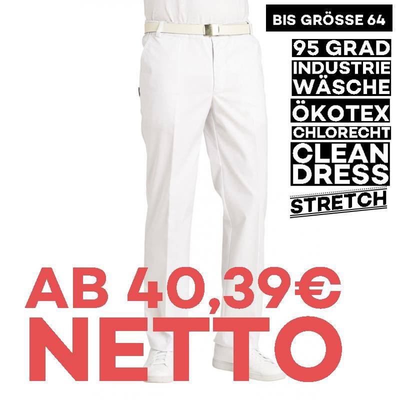 Herrenhose - STRETCH - 6790 von LEIBER / Farbe: weiß / 48 % Baumwolle 48 % Polyester 4 % Elastolefin - | MEIN-KASACK.de
