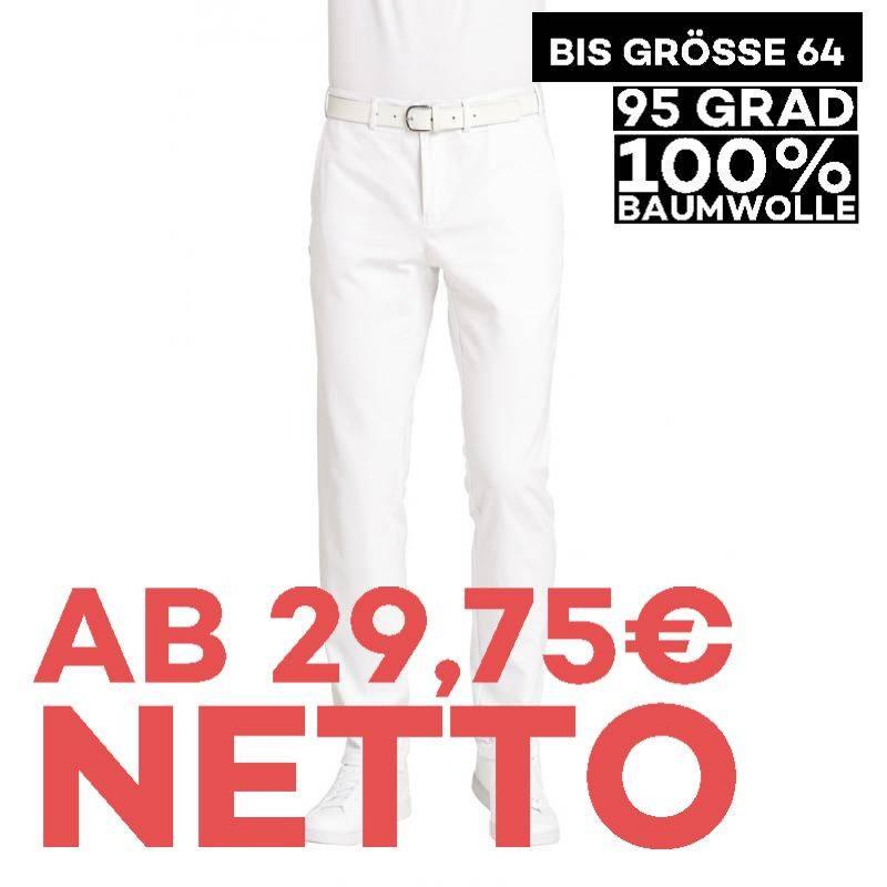 Herrenhose 7070 von LEIBER / Farbe: weiß / 100 % Baumwolle-Satin - | MEIN-KASACK.de | kasack | kasacks | kassak | berufs