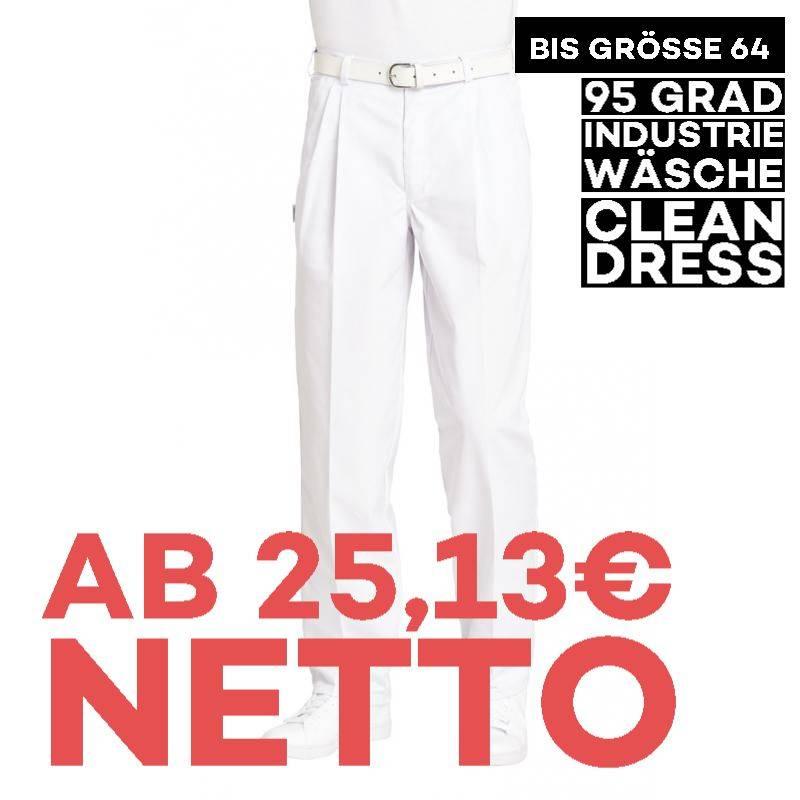 Herrenhose 8230 von LEIBER / Farbe: weiß / 65 % Polyester 35 % Baumwolle - | MEIN-KASACK.de | kasack | kasacks | kassak