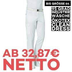 Herrenhose 7720 von LEIBER / Farbe: weiß / 50 % Baumwolle 50 % Polyester - | MEIN-KASACK.de | kasack | kasacks | kassak