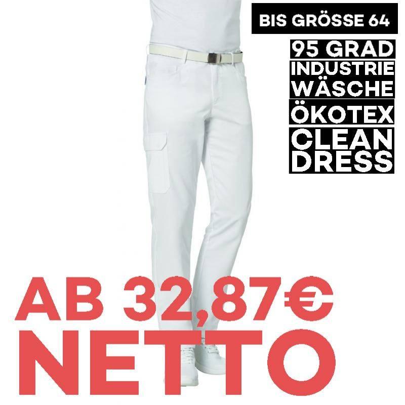 Herrenhose 7720 von LEIBER / Farbe: weiß / 50 % Baumwolle 50 % Polyester -   MEIN-KASACK.de   kasack   kasacks   kassak