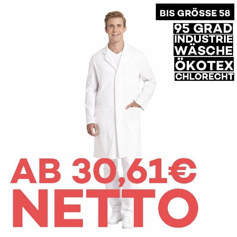 Herrenmantel / Arztkittel / Laborkittel - 1166 von LEIBER / Farbe: weiß / 100 % Baumwolle - | MEIN-KASACK.de | kasack |