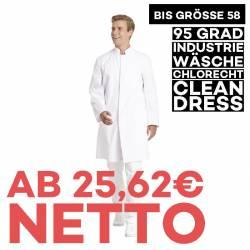 Herrenmantel / Arztkittel / Laborkittel - 9920 von LEIBER / Farbe: weiß / 65 % Polyester 35 % Baumwolle - | MEIN-KASACK.