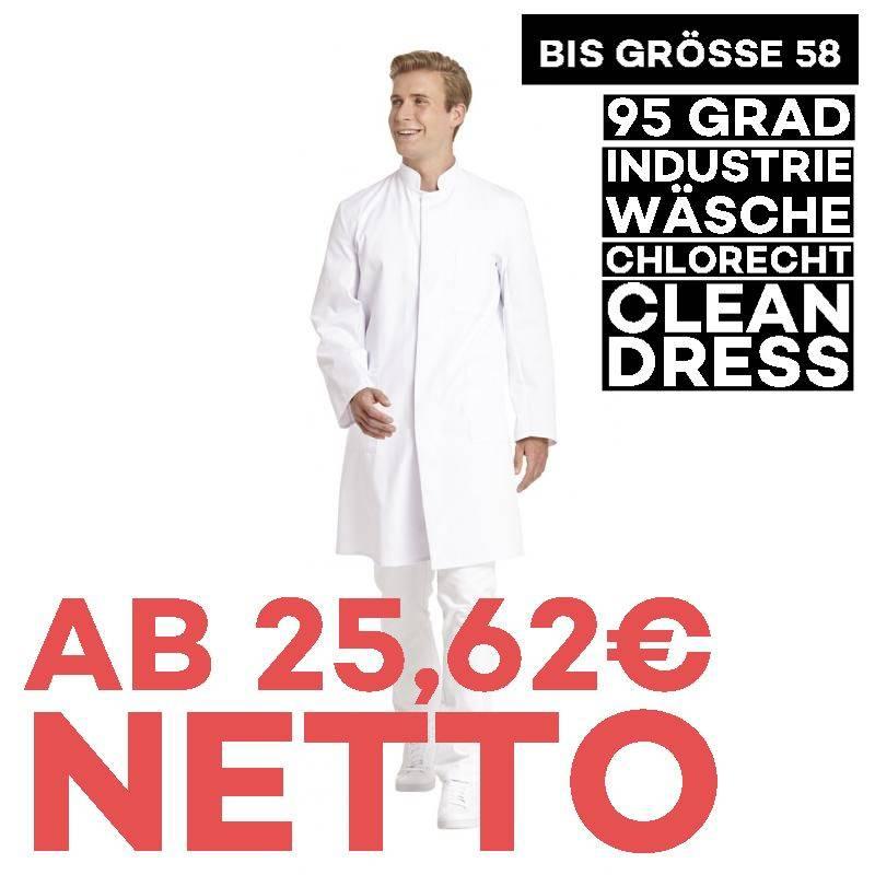 Herrenmantel / Arztkittel / Laborkittel - 9920 von LEIBER / Farbe: weiß / 65 % Polyester 35 % Baumwolle -   MEIN-KASACK.