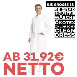 Herrenmantel / Arztkittel / Laborkittel - 9930 von LEIBER / Farbe: weiß / 100 % Baumwolle Feinköper - | MEIN-KASACK.de |