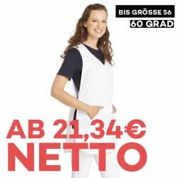 Überwurfschürze 641 von LEIBER / Farbe: weiß / 65 % Polyester 35 % Baumwolle - | MEIN-KASACK.de | kasack | kasacks | kas