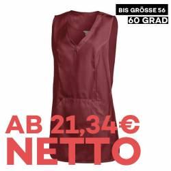 Überwurfschürze 641 von LEIBER / Farbe: bordeaux / 65 % Polyester 35 % Baumwolle - | MEIN-KASACK.de | kasack | kasacks |