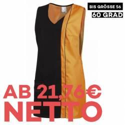 Überwurfschürze 2541 von LEIBER / Farbe: schwarz-sun / 65 % Polyester 35 % Baumwolle - | MEIN-KASACK.de | kasack | kasac