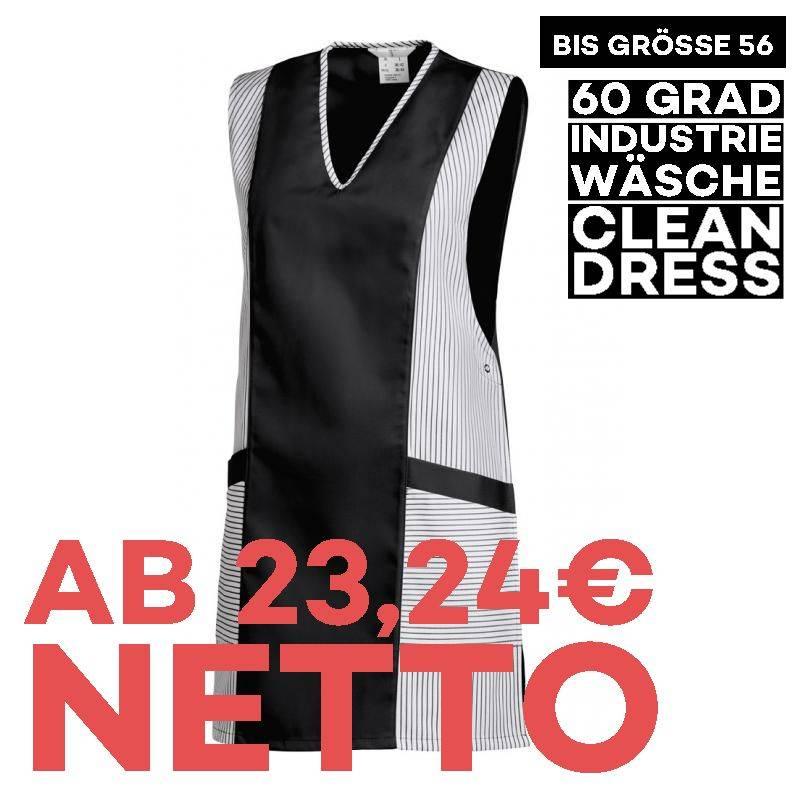 Überwurfschürze / Chasuble 264 von LEIBER / Farbe: weiß-schwarz / 65 % Polyester 35 % Baumwolle - | MEIN-KASACK.de | kas