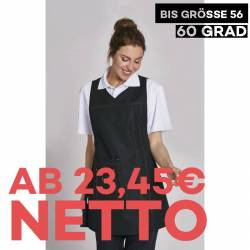 Überwurfschürze 1350 von LEIBER / Farbe: schwarz / 65 % Polyester 35 % Baumwolle - | MEIN-KASACK.de | kasack | kasacks |
