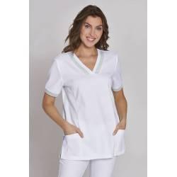 Damen- STRETCH-Kasack 1331 von LEIBER / Farbe: weiß / 95% Baumwolle / 5% Elasthan - | MEIN-KASACK.de | kasack | kasacks