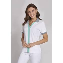 Damen - STRETCH-Kasack 1330 von LEIBER / Farbe: weiß / 95% Baumwolle / 5% Elasthan - | MEIN-KASACK.de | kasack | kasacks