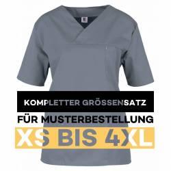 Kompletter Größensatz für Musterbestellung: Damen -  Kasack 2651 von MEIN-KASACK.de / Farbe: anthrazit - grau - 1