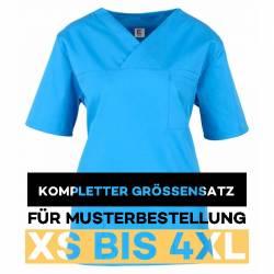 copy of Damen -  Kasack 2651 von MEIN-KASACK.de / Farbe: azur / 65%PES - 35%BW - 170g/m² - 1