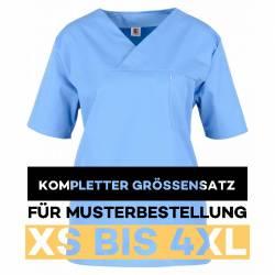 Kompletter Größensatz für Musterbestellung: Damen -  Kasack 2651 von MEIN-KASACK.de / Farbe: hellblau / 65%PES - 35%BW - 170g/m²