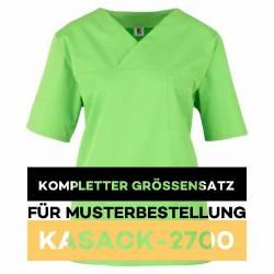 Kompletter Größensatz für Musterbestellung: Damen-Kasack / OP - Kasack - 2700 von MEIN-KASACK.de / Farbe: apple - 1