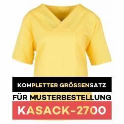 Kompletter Größensatz für Musterbestellung: Damen-Kasack / OP - Kasack - 2700 von MEIN-KASACK.de / Farbe: gelb - 1