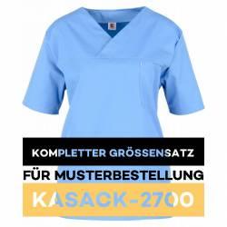 Kompletter Größensatz für Musterbestellung: Damen-Kasack / OP - Kasack - 2700 von MEIN-KASACK.de / Farbe: hellblau - 1