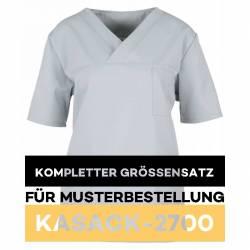 Kompletter Größensatz für Musterbestellung: Damen-Kasack / OP - Kasack - 2700 von MEIN-KASACK.de / Farbe: hellgrau - 1