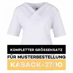 Kompletter Größensatz für Musterbestellung: Damen-Kasack / OP - Kasack - 2700 von MEIN-KASACK.de / Farbe: weiß - | MEIN-
