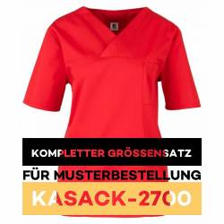Kompletter Größensatz für Musterbestellung: Damen-Kasack / OP - Kasack - 2700 von MEIN-KASACK.de / Farbe: rot - 1
