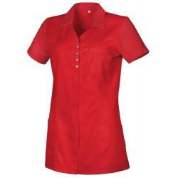 Damen - STRETCH-Kasack 3450 von TEAMDRESS / Farbe: rot / 50% Polyester - 50% Baumwolle - 180g/m2 - | MEIN-KASACK.de | ka
