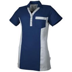 Damen - STRETCH-Kasack 1074 von TEAMDRESS / Farbe: marine-grau / 45% Polyester - 55% Baumwolle - 185g/m2 - | MEIN-KASACK