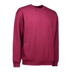 Klassisches Herren Sweatshirt 600 von ID / Farbe: bordeaux / 70% BAUMWOLLE 30% POLYESTER -   MEIN-KASACK.de   kasack   k