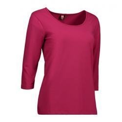 Stretch Damen T-Shirt | 3/4-Arm 591 von ID / Farbe: cerise / 92% BAUMWOLLE 8% ELASTANE - | MEIN-KASACK.de | kasack | kas