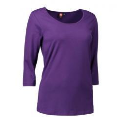 Stretch Damen T-Shirt | 3/4-Arm 591 von ID / Farbe: lila / 92% BAUMWOLLE 8% ELASTANE - | MEIN-KASACK.de | kasack | kasac