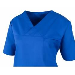 Damen-Kasack / OP - Kasack - 2700 von MEIN-KASACK.de / Farbe: kornblau / 50%PES - 50%Tencel - 200g/m² - | MEIN-KASACK.de