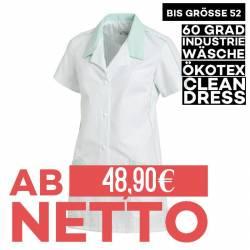 Damen -  Hosenkasack 559 von LEIBER / Farbe: weiß-mint / 65 % Polyester 35 % Baumwolle - | MEIN-KASACK.de | kasack | kas