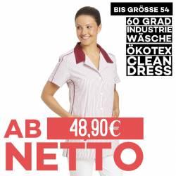 Damen -  Hosenkasack 559 von LEIBER / Farbe: weiß-bordeaux / 65 % Polyester 35 % Baumwolle - 1
