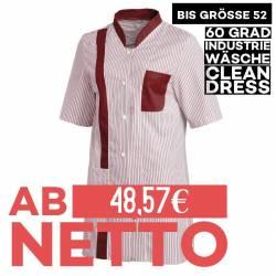 Damen -  Hosenkasack 634 von LEIBER / Farbe: weiß-bordeaux / 65 % Polyester 35 % Baumwolle - | MEIN-KASACK.de | kasack |