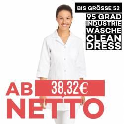 Damen-Kasack / Longkasack - 347 von LEIBER / Farbe: weiß / 50 % Baumwolle 50 % Polyester - 1